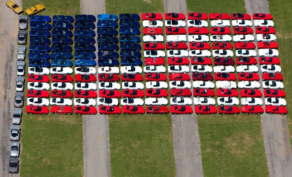 [VIDEO] 2010 Corvettes at Carlisle's American Flag Display