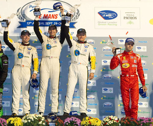 Team Corvette and Risi Ferrari on the Podium at Petit Le Mans