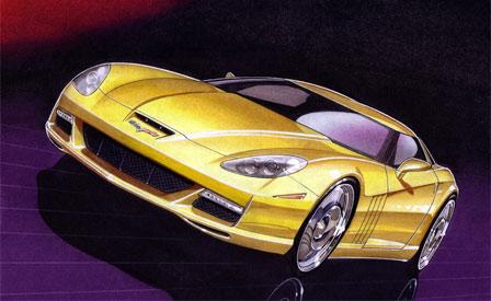 Motor Trend C7 Corvette Rendering