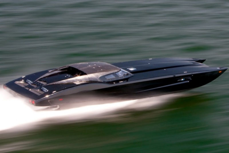 $1.7 Million Corvette ZR-1 Themed Boat is Menacing in Carbon Fiber