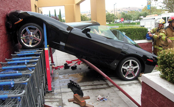 Corvette vs Walmart Crash Injures Two
