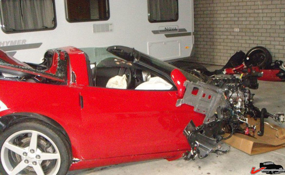 European Dealer Crashes Customer's C6 Corvette