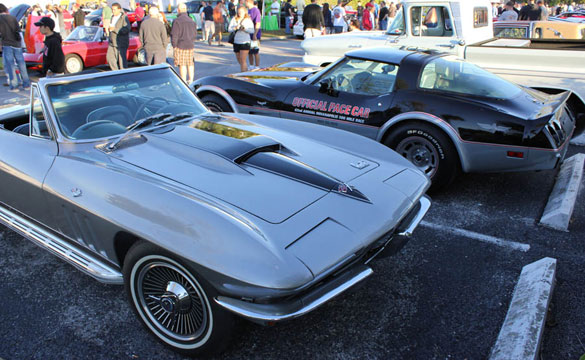 Corvettes at the Cars and Coffee Meet in St. Pete