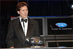 Ron Fellows receives the coveted Most Popular Driver Award