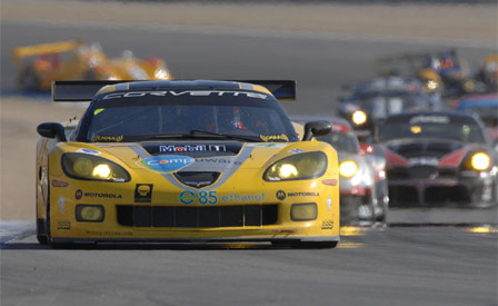 The GT1 #4 Corvette at Laguna Seca