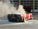 Z06 Corvette on Fire