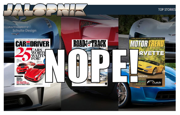 Jalopnik to Reveal 'Real' C7 Corvette on Monday at Noon