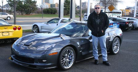 Paul Teutul Sr and his 2009 Corvette ZR1