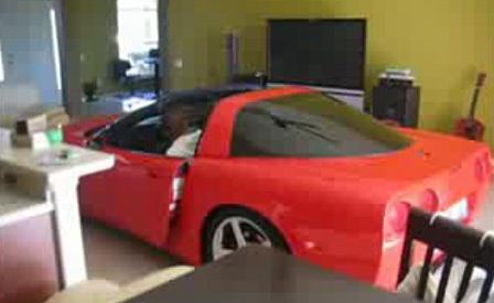 Guy Parks Corvette in his House