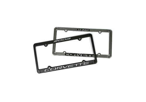 Zip Corvette - 1965 - 2011 Model Year License Plate Frames