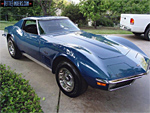 1970 Corvette in Bridgehampton Blue