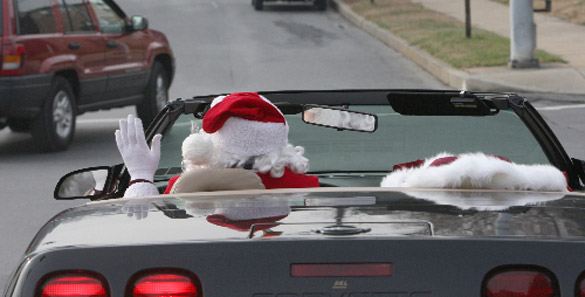 Santa's Helper Drives One Fast Sleigh