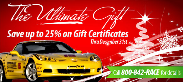 Send The Corvette Driving Enthusiast on your Christmas List to Bondurant