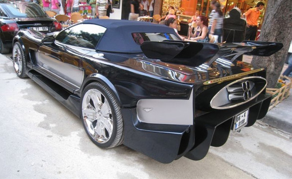 Battlestar Galactica C5 Corvette is One Hot Mess