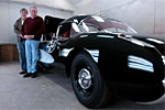 Joel and Bill next to the restored 1957 Corvette.