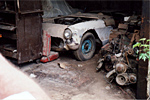 The 1957 Corvette was a true barn find