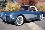 1956 Arctic Blue Corvette Roadster