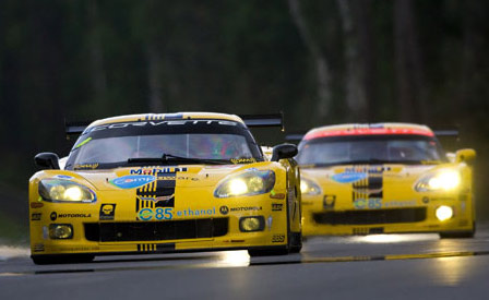 The GT1 Corvettes at the 24 Hours of Le Mans