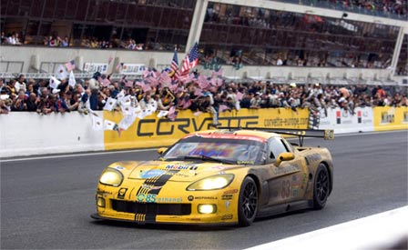 A GT1 Corvette at the 24 Hours of Le Mans