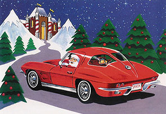Twas the Night Before Christmas - Corvette Style