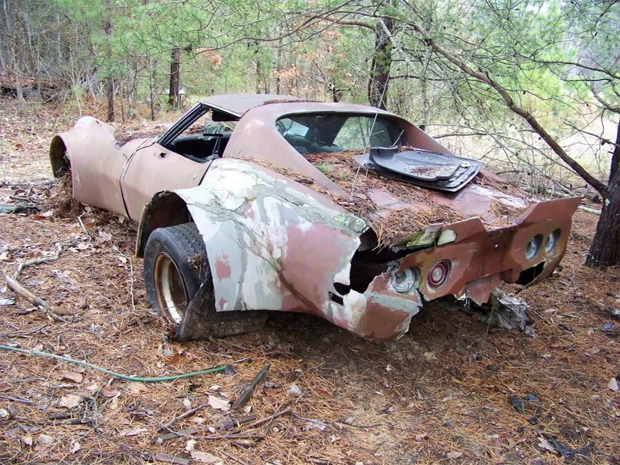 Barn Find Flared C3 Corvette Put Out To Pasture