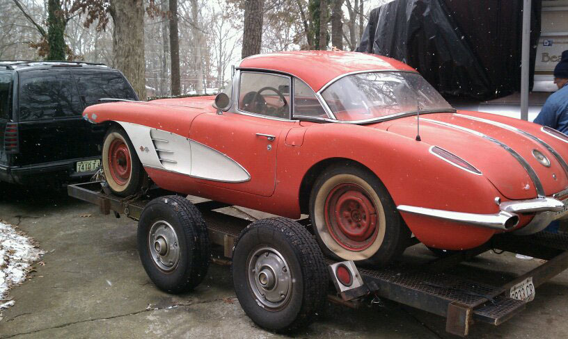 1958 Corvette Barn Car is Christmas Day Gift for Restorer - Corvette