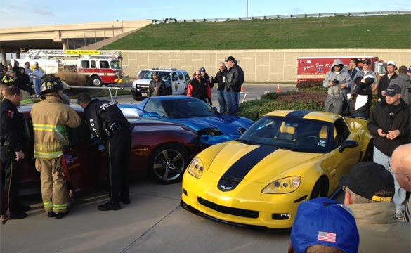 Seizure Causes Woman to Crash Camaro Into Two Corvettes at Dallas Cars and Coffee