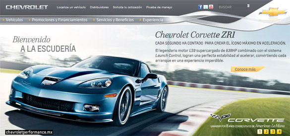 Chevrolet Mexico Announces New Performance Stores to sell Corvette Grand Sports and ZR1