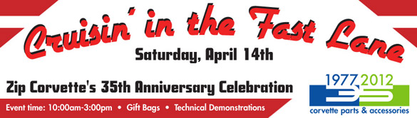 Zip Corvette Invites You to their 35th Anniversary Celebration on April 14