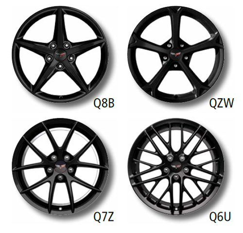 The 2013 Corvette Lineup of Black Aluminum Wheels
