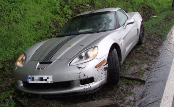 Corvette Z06 and Several Other Supercars Crash on the Autobahn