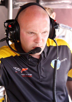Chuck Houghton, race engineer for Corvette Racing