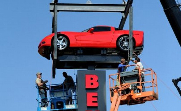 Evansville Dealer Puts a Corvette High in the Sky