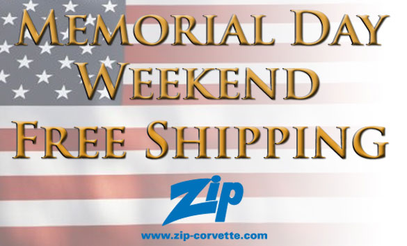 Celebrate Memorial Day with Free Shipping on Corvette parts from ZIP
