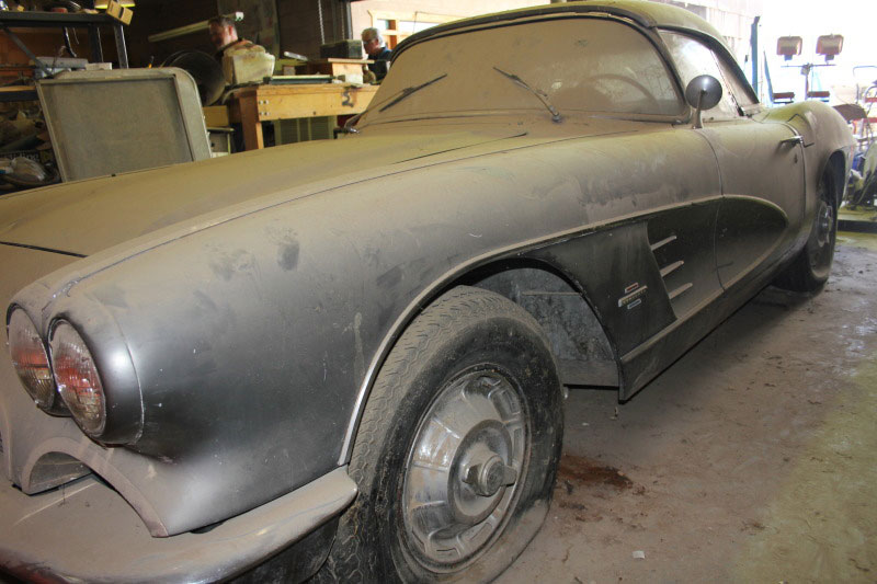 Corvettes On EBay 1961 Corvette Is A True Barn Find