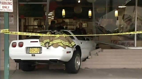 C4 Corvette Crashes Into Albuquerque Bread Shop