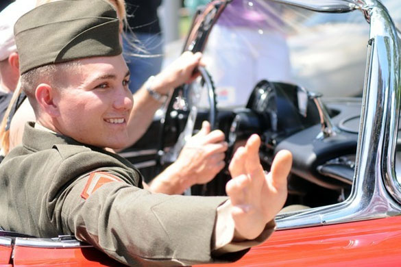 Marine Arrives Home in a Classic Corvette After Tour in Afghanistan