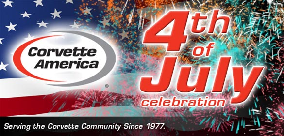 Celebrate July 4th with Corvette America's $4 Shipping offer