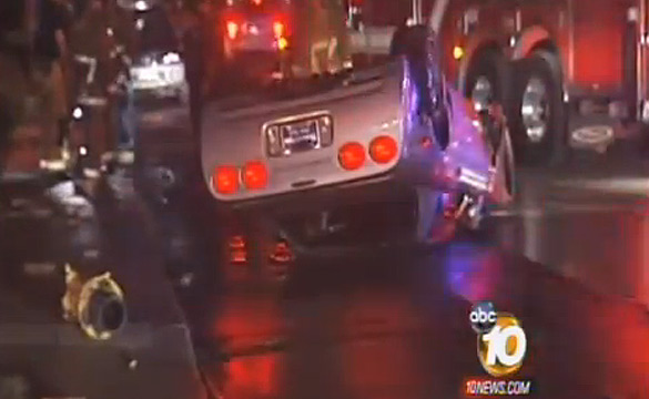 [VIDEO] C5 Z06 Crashes and Flips in San Diego Accident