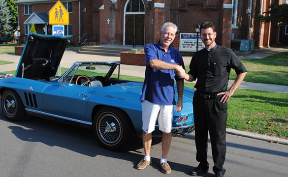 St. Bernard's Raffle Winner Drives to Indiana to Pick Up 1966 Corvette