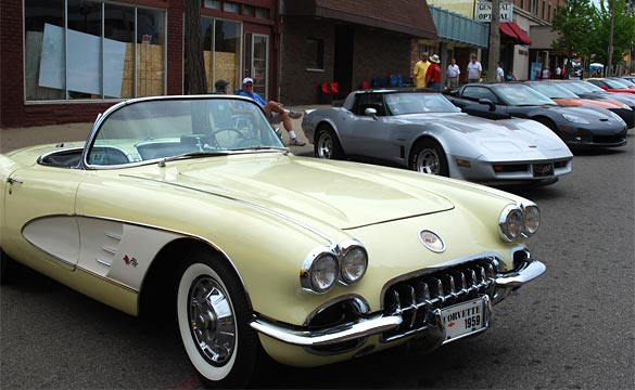 Corvettes Heading to Flint Michigan for Back to the Bricks Reunion