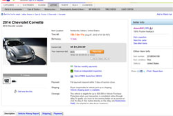 eBay Ad for 2014 C7 Corvette Removed