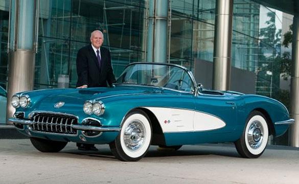 1958 Corvette with GM Chairman/CEO Dan Akerson