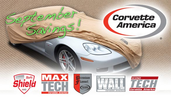 Corvette America's September Savings on Corvette Car Covers