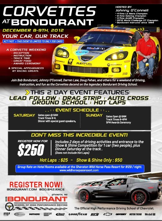 Corvette Weekend at Bondurant School of High Performance Driving