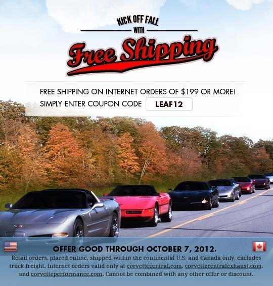 Corvette Central Kicks Off Fall With Free Shipping Offer