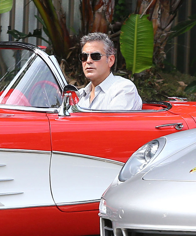 George Clooney And His Little Red Corvette