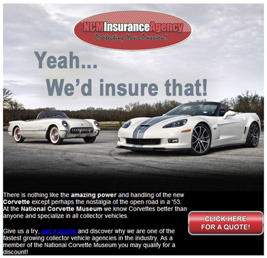 Get an Insurance Quote from the Corvette Experts at NCM Insurance Agency