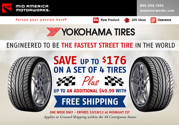 Mid America Motorworks: Free Shipping on Yokohama Tires