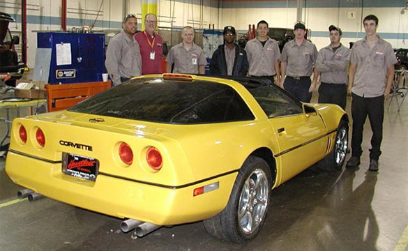 Students at Lincoln Tech Restore a C4 Corvette